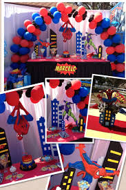 Birthday Table Decorations by Spiderman Principal Table Decorations Party Ideas Pinterest