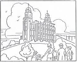 temple coloring lds lesson ideas