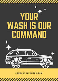 black yellow car wash flyer templates by canva