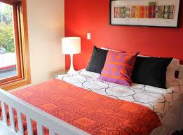 Bedroom With Red Accent Wall - accent wall colors for small bedrooms memsaheb net