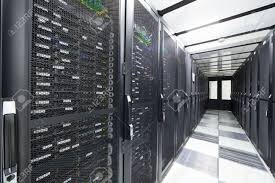 data center servers servers in storage cabinets in data center stock photo picture and