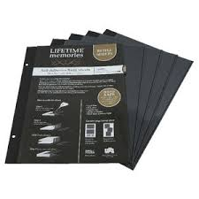 magnetic photo album refill pages ncl a4 self adhesive photo album refills 5 pack black officeworks