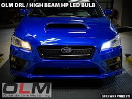 Led Light Bulbs For Headlights by Olm Hp Led High Beam Drl Bulbs 2015 Wrx 2015 Sti
