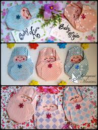 bebes de origami para decorar tarjetas y baby showers manualidades