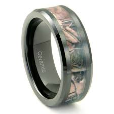 camo mens wedding band black ceramic men s camo ring comfort fit band 8mm