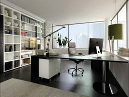 modern small office design with grey theme on each space