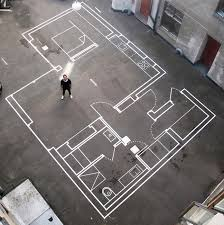 Drawing Floor Plan Drawn Up Architecture Firm Uses Tape For Full Scale Floor Plans