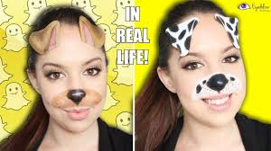 snapchat in real life dog filter makeup tutorial