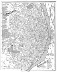 Map Of St Louis Mo St Louis Missouri Street Map Vintage Print Poster