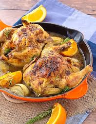 cornish hen recipe with sherry orange and rosemary