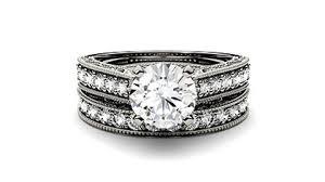 moissanite wedding sets moissanite bridal sets engagement ring sets charles colvard