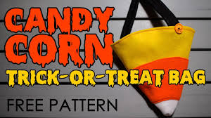 dad sews a candy corn trick or treat bag youtube
