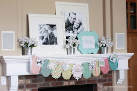 Ideas For Bridal Shower by Wedding Shower Banner U0026 Mantel Landeelu Com