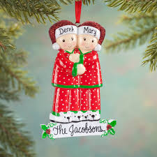 personalized family in pajamas ornament holiday ornament miles
