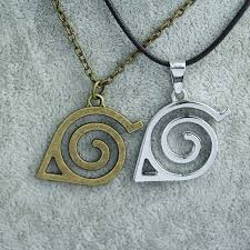 naruto anime necklace images Naruto leaf symbol necklace jpg