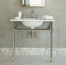single sink console vanity apothecary single sink console pottery barn bathroom sink consoles