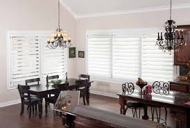 Traditional Dining Room Chandeliers Decorating Appealing Plantation Blinds With Wood Ceiling And