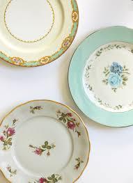 gold monogram vintage plates hometalk