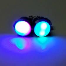 led earrings glofx led fade earrings light up clip ons glofx
