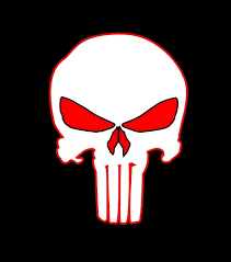 Skull Jeep Logo Emblem Punisher Skull Vinyl Decal Sticker Hood