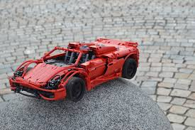 red porsche 918 porsche 918 spyder 1 10 lego technic mindstorms u0026 model team