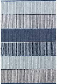 Flat Weave Cotton Area Rugs Siena Cotton Flatweave Rug In Blue By Chandra Rugs