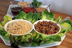 Buffet Style Dinner Party Menu Ideas by Asian Turkey Lettuce Wraps