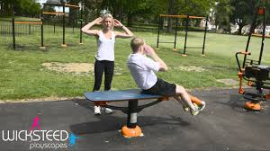 sit up bench outdoor fitness equipment youtube