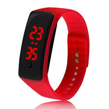 bracelet watches led images Kids watches red led kids sports bracelet wrist watch silicone jpg