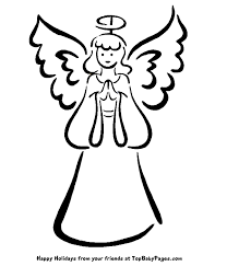 coloring engaging easy angels draw coloring easy