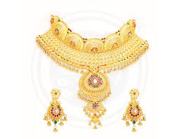 bengali gold earrings sree kumaran bengal choker necklace stud set