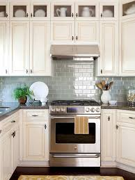 white kitchen cabinets backsplash ideas kitchen backsplash ideas better homes gardens within blue subway