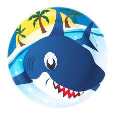 shark birthday invitations shark dinner plates birthdayexpress com