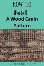 how to paint a wood grain pattern on pegboard or anything else