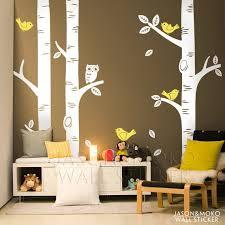 stickers pas cher pour chambre pas cher livraison gratuite oiseau bouleau cadeau stickers