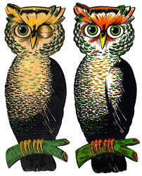 vintage halloween images clip art luhrs and beistle large owls vintage halloween decorations u2026 flickr