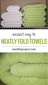 bathroom towel folding ideas easiest way to fold towels nicely