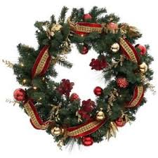 pre lit wreath decorated 36 led 50 clear battery