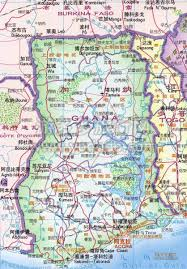 Detailed Map Of China by Detailed Road Map Of Ghana In Chinese Ghana Detailed Road Map In