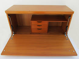 musterring wooden wall mounted secretaire 1960s design market