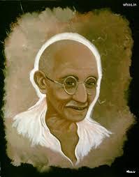 leadership quote by mahatma gandhi mahatma gandhi color art painting