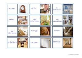 Schlafzimmer Englisch Vokabeln Wohnung Und Möbel Domino Arbeitsblatt Kostenlose Daf Arbeitsblätter