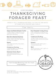 light thanksgiving menu thanksgiving forager feast take home and enjoy with family and