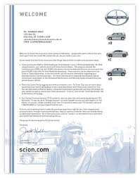 Financial Warranty Letter new owner welcome letter for scion on behance