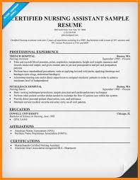 resume examples for nursing assistant certified nursing assistant