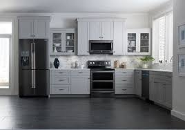 kitchen with stainless steel appliances black stainless steel appliances