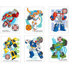 transformers rescue bots party supplies transformers rescue bots temporary tattoos birthday and theme