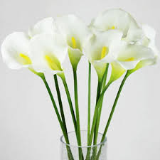 silk calla lilies callas 35cm silicon artificial calla