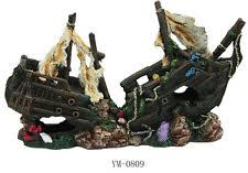 sunken pirate ship fish tank ornament aquarium decoration ebay