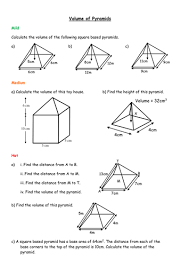volume of pyramids by mizz happy teaching resources tes